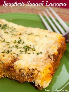 Spaghetti Squash Lasagna ~ Freezer Friendly - Farmer's Wife Rambles