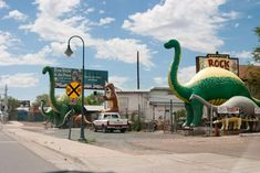 1. These dinosaurs that sprawl the streets of Holbrook are just the start of a long list of strange finds in Arizona.