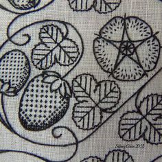 """Basics of Elizabethan Freehand Blackwork Embroidery"" This article specifically focuses on the styles and basic techniques of freehand blackwork embroidery in the Elizabethan and Tudor eras in England. Blackwork Patterns, Blackwork Embroidery, Cross Stitch Embroidery, Embroidery Patterns, Jacobean Embroidery, Geek Cross Stitch, Cross Stitch Patterns, Cross Stitches, Embroidery Monogram"