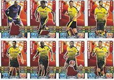 Match Attax 2015/2016 Watford Team Base Set Plus Star Player, Captain & Away Kit Cards 15/16 #watford