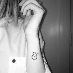 My ampersand tattoo that stands for the relationship I have with my sister. We…