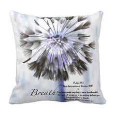 Breath Throw Pillow - photography gifts diy custom unique special