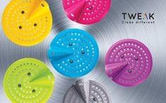 Original TWEAK Strainer - Flexible Kitchen Sink Strainer, Durable, Effective And Easy To Use. Made Of 100% Silicone, Fits Any Sink Up To 11 CM / 4.3 INCH Diameter (Lucky Purple)