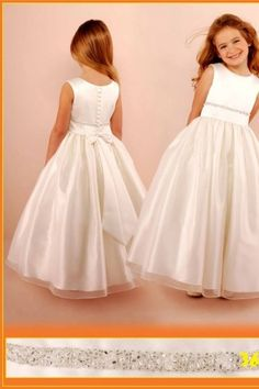Pearl Details Accented Flower Girl Dress