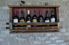 Reclaimed barnwood/Wine Stave wine rack hints by WineStaveCrafts