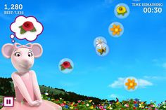 Angelina Ballerina's Bubble Pop! ($0.99) Ready, set, pop! Help Angelina Ballerina pop bubbles to collect flowers in this action-packed game that's bursting with fun.    Angelina's dreaming of all the flowers she'll receive someday when she's a prima ballerina. Can you help her gather flowers for her bouquet by popping the bubbles as they float from the sky?   Be careful: only pop the ones Angelina tells you to. Pop the bubbles before they fall in the garden!  Two modes—timed and classic!