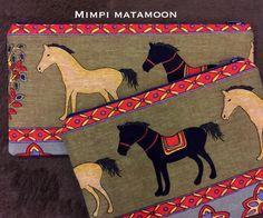 Horses. Cotton Linen #mimpimatamoon #pouches #handmadeinMalaysia #madeinmalaysia Photo:Mediumlong & Medium pouches