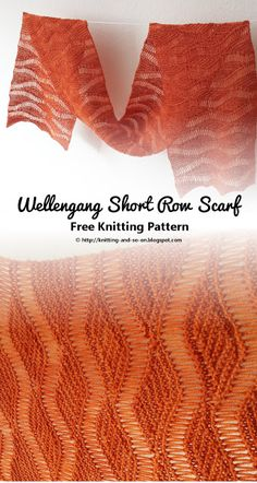 Wellengang Short Row Scarf - Free Knitting Pattern by Knitting and so on