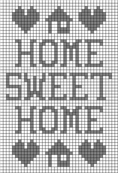 Free Filet Crochet Graph Patterns | Preview This Free Crochet Pattern: Home Sweet Home Filet