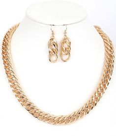 Samantha Chain Necklace and Earrings Set