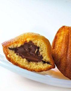Madeleines au nutella - Recettes Elle à Table