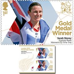 Large image of the ParalympicsGB Gold Medal Winner Miniature Sheet - Sarah Storey