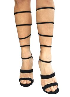 Lustacious Women's Knee High Open Toe Strappy High Heel Sandal with Back Zipper *** Check out this great product.