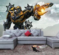 Bumblebee Wallpaper 3D Transformers photo wallpaper Custom Waterproof Wall Mural Art Painting Boy Room decor Bedroom Living room Superhero