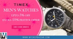Gratify the close ones with classy timepieces by Timex, and let them feel extremely cherished this festive season.
