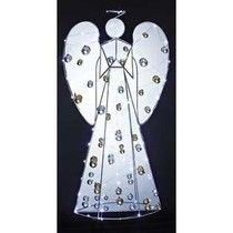 """Decorate Your Yard for the Holidays with Lighted Christmas Angel Yard Decorations [ View the story """"Lighted Christmas Angels for Your . Angel Silhouette, Light Angel, Christmas Angels, Yard Art, Minnie Mouse, Disney Characters, Fictional Characters, Holidays, Decor"""