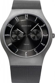 BERING Time Mens Classic Collection Watch with Mesh Band and scratch resistant sapphire crystal. Designed in Denmark. Bering, Titanium Watches, Best Watches For Men, Mesh Band, Bandy, Seiko Watches, Wrist Watches, Modern Man, Watch Sale
