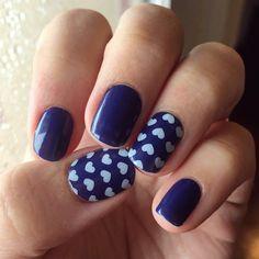 Loving this Jamberry layered manicure! Lakeside & pop heart   http://ErikasPrettyPinkies.Jamberry.com