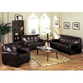 "Hokku Designs""Melrose Bonded Leather Sofa and Chair Set"