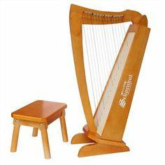 Cherry 15 String Harp W/Bench