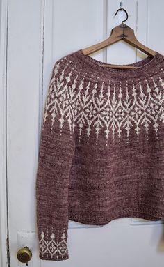 Ravelry: Gardengate pattern by Jennifer Steingass Fair Isle Knitting Patterns, Loom Knitting Patterns, Knitting Stitches, Free Knitting, Knitting Tutorials, Sock Knitting, Stitch Patterns, Knitting Machine, How To Purl Knit