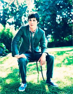 logan lerman :) the lightning thief. Even though the movie was nothing like the book.