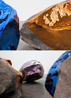 Jim Hodges metallic stones ROCK.