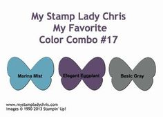 Stampin' Up Color Combo: Marina Mist, Elegant Eggplant & Basic Gray