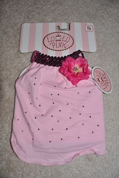LULU PINK ~ Brand New with Tags ~ Pink Designer Doggie Dress XXS XS S M ~ You Pick the Size