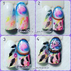 Super Cute Ideas for Summer Nail Art - Nailschick Feather Nail Art, Black And White Nail Art, Nail Art Techniques, Super Nails, Arte Floral, Gel Nail Art, Nail Art Galleries, Nail Tutorials, Perfect Nails