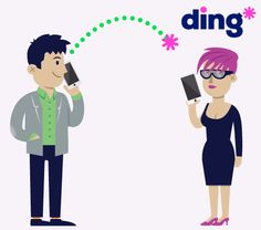 Who will be the next person you send a text message to or call?  https://www.ding.com