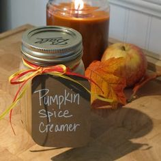 Pumpkin spice creamer...made with almond milk. I can't wait to try it!
