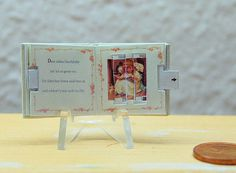 1 / 12 Miniature Pop-Up Book Liebe Tiere, victorian movement booklet... 55.00, via Etsy.