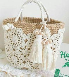 Trendy Ideas for knitting bag sewing crochet Crochet Shell Stitch, Crochet Tote, Crochet Handbags, Crochet Purses, Crochet Stitches, Free Crochet, Knit Crochet, Crochet Patterns, Sewing Patterns