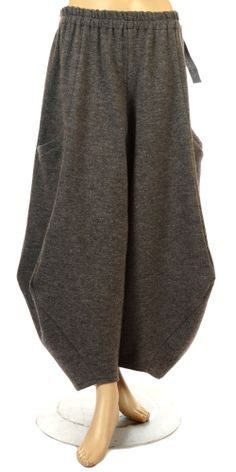 Champagne Grey Wool 7/8th Balloon Trouser - Champagne from idaretobe.com UK