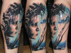 Mirel Kaos Tattoo Edward Scissorhands  ( I want a Edward tattoo )