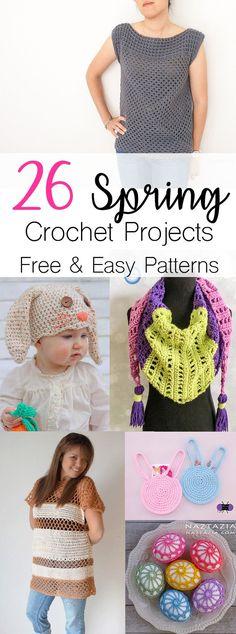 Crochet Patterns for Spring | Free Easy Crochet patterns | Crochet Spring Top Patterns | Crochet Home Decor | Crochet Amigurumi | Crochet Rug | Crochet Afghan Blanket
