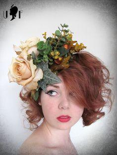 Autumn Roses Fascinator -