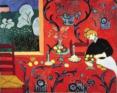 Henri Matisse - Harmony in Red - 1908 - The State Hermitage Museum, St. Petersburg Matisse, in affirming the flatness of red, creates illusory dimensions in Harmony in Red Henri Matisse, Matisse Kunst, Matisse Art, Henri Rousseau, Paul Cezanne, Matisse Pinturas, Maurice De Vlaminck, Matisse Paintings, Artwork Paintings