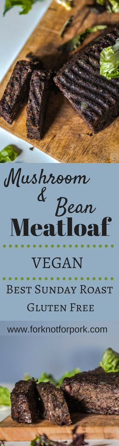 Delicious vegan meatloaf with creamy mushrooms and beans makes Your family Sunday roast peaceful and satiating. Vegan Foods, Vegan Dishes, Vegan Vegetarian, Vegetarian Recipes, Healthy Recipes, Falafel, Vegan Meatloaf, Whole Food Recipes, Cooking Recipes