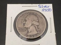 1950 Silver Washington Quarter by wandajewelry2013 on Etsy