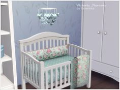 Sets of furniture and decor to design a child's room in a romantic style with elements of Shabby.  Found in TSR Category 'Sims 4 Nursery sets'