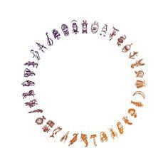 Alethiometer symbols gradient