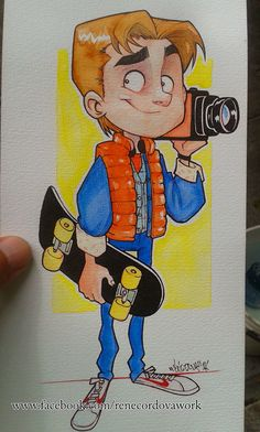 Marty Mcfly watercolors on Behance