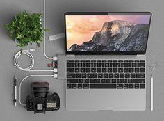 【USB-C】MacBook 12インチを充電しながらiPhoneも充電できる「Satechi Type-C USB3.0 3in1 コンボハブ 」SD/microSDカードも読み込み可能