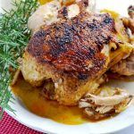 """All you need is about 45 minutes to have this amazing tender, juicy Instant Pot whole """"rotisserie"""" chicken. Your whole family will LOVE it!   APinchOfHealthy.com"""