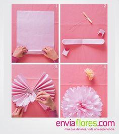 Flores con papel China