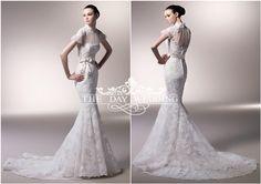 Enzoani 西班牙 皇室 婚纱 礼服 高领 水晶 公主