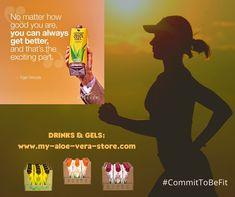 """Commit to be fit with Forever Aloe Vera Juice Drink! Who else agrees with Tiger Woods that no matter how good you are, the exciting part is that you can always get better? That applies in life as well as in sport and there are many reasons for drinking """"A wonderful drink for good health!"""" on a daily basis. To find out more, simply click the embedded Facebook link. See you on Facebook! Aloe Vera Juice Drink, Clean 9, Forever Aloe, Forever Living Products, Tiger Woods, Aloe Vera Gel, Weight Loss Plans, Weight Management"""