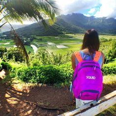 Squid pack goes to Hawaii #backpack #kids #fashion #Hawaii #backpacking #customizable